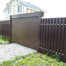 Рулонные ворота Воронеж - загородный дом