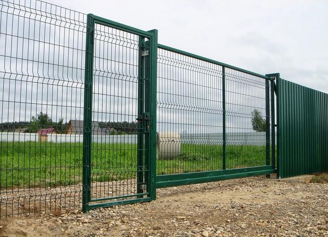 откатные ворота 3D сетка